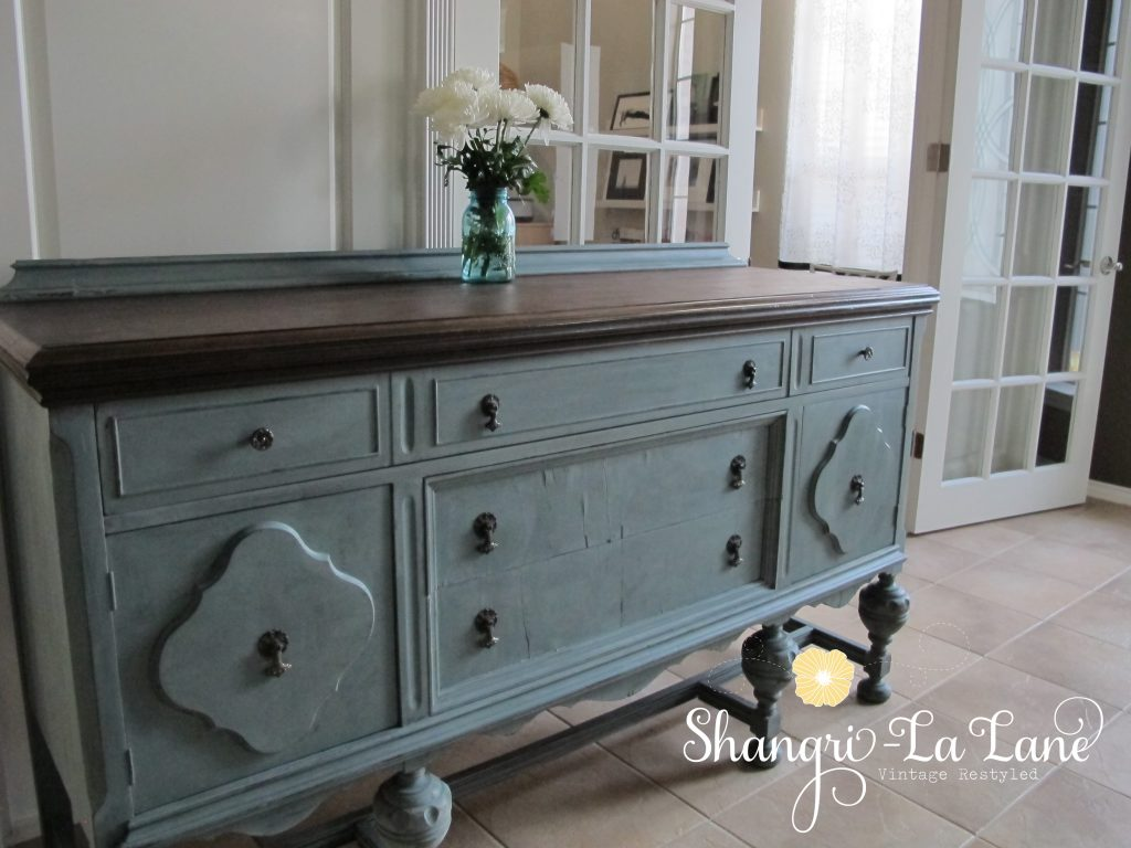 Blue Sideboard Table