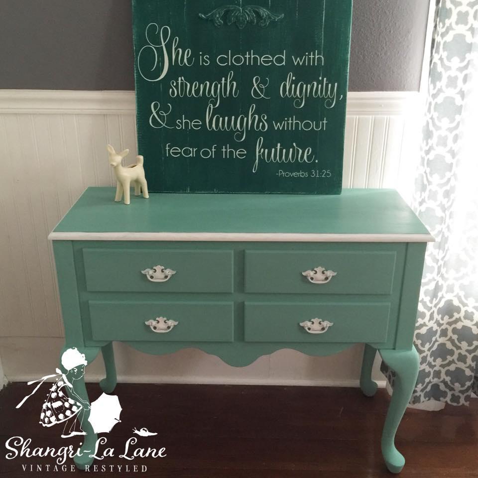 Pink And Green Sideboard