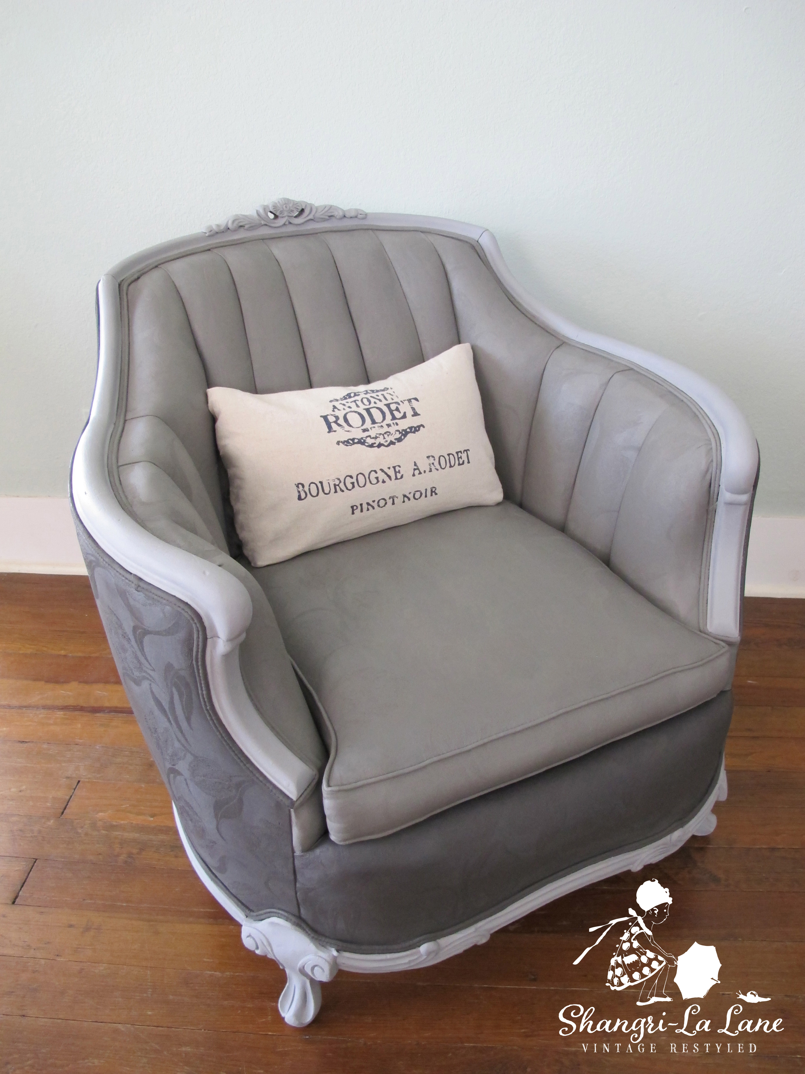 Video Tutorial: How To Paint Over Upholstery Fabric - Shangri-La Lane