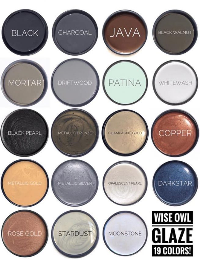 wise owl glaze colors