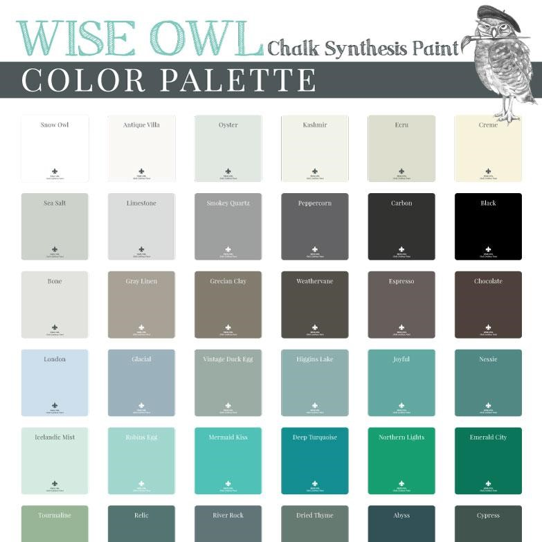 Wise Owl Paint Over 50 Colors Shangri La Lane