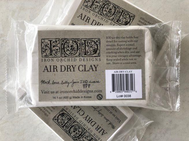 IOD tools air dry clay