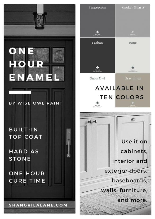 one hour enamel brochure